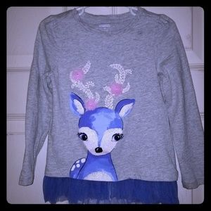 Reindeer Blouse with Matching Leggings